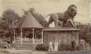 forbury gardens 1904,bandstand, local studies collection